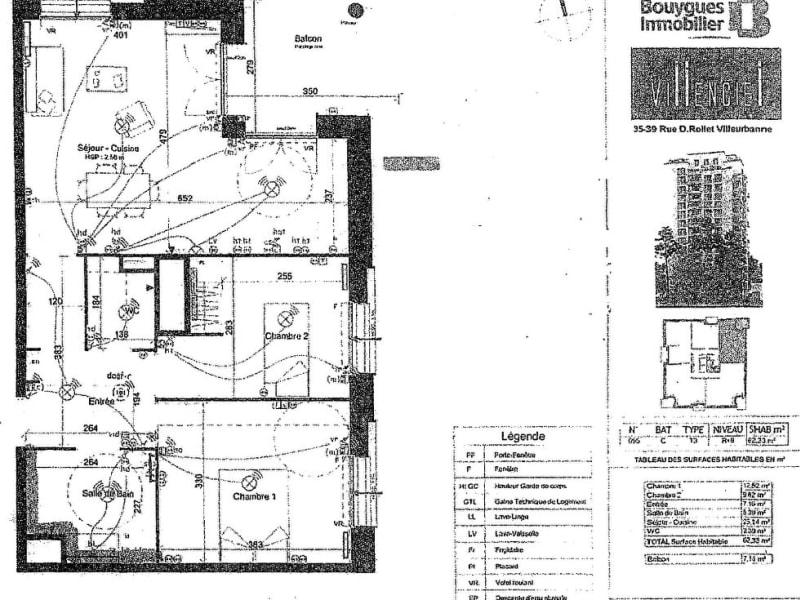 Rental apartment Villeurbanne 870€ CC - Picture 1