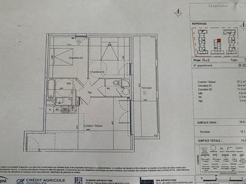 Rental apartment Montpellier 810€ CC - Picture 12