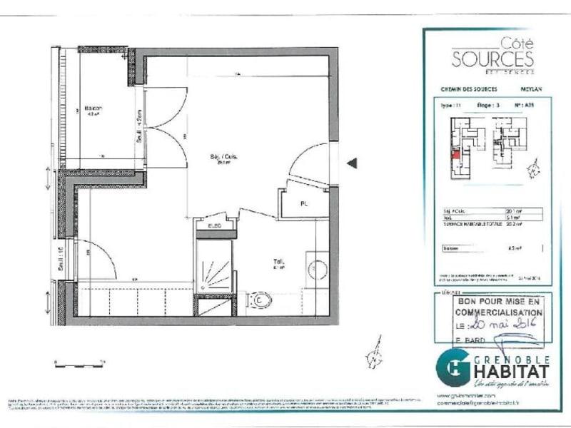 Location appartement Meylan 432€ CC - Photo 3