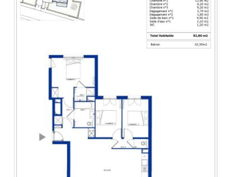 Vente appartement Garches 735000€ - Photo 3