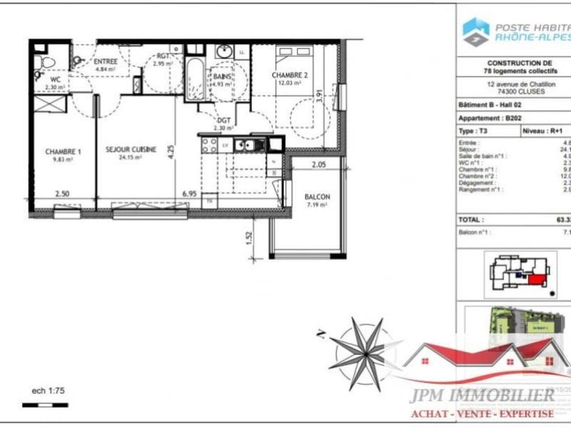 Sale apartment Cluses 169500€ - Picture 3