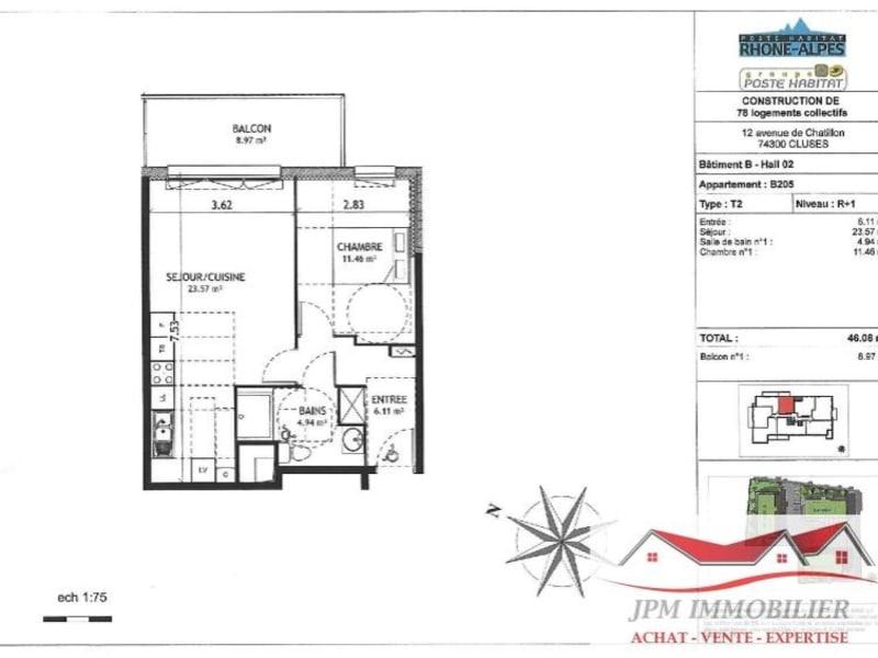 Sale apartment Cluses 119500€ - Picture 3