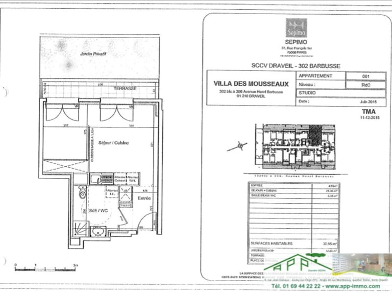 Rental apartment Draveil 649,25€ CC - Picture 2