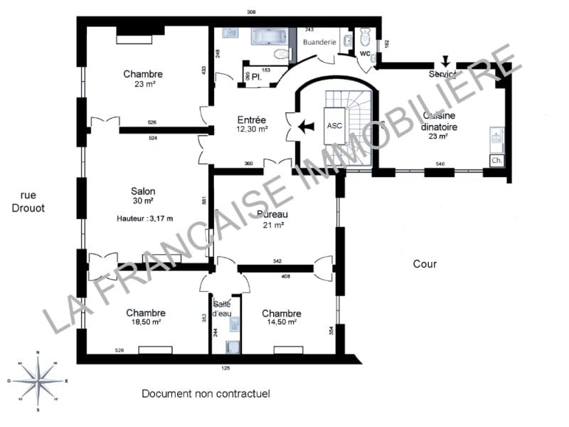 Location appartement Paris 9ème 4100€ CC - Photo 1