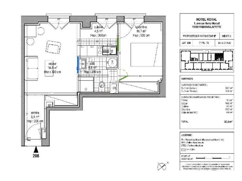 Rental apartment Maisons laffitte 1000€ CC - Picture 7