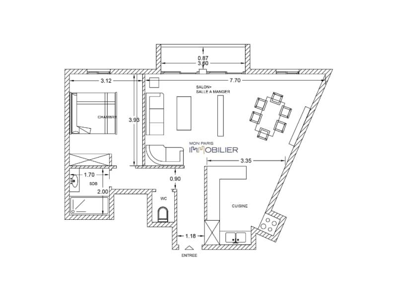 Vendita appartamento Paris 14ème 582400€ - Fotografia 3