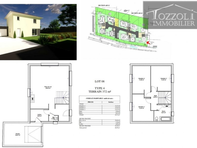 Sale house / villa Saint jean de soudain 237053€ - Picture 2