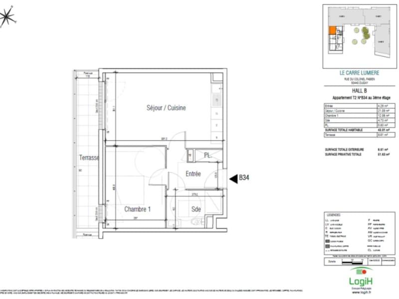 Sale apartment Dugny 176130€ - Picture 3