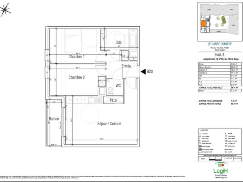 Sale apartment Dugny 191580€ - Picture 2