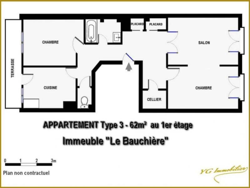 Vente appartement Toulon 96000€ - Photo 2