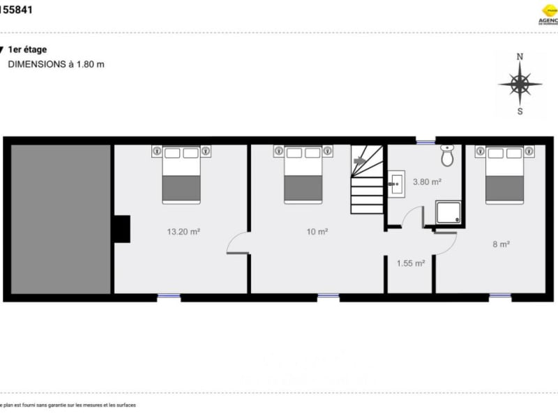 Vente maison / villa Montreuil-l'argillé 155000€ - Photo 12