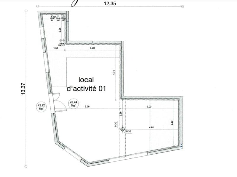 Rental empty room/storage Lagny sur marne 1600€ HC - Picture 2