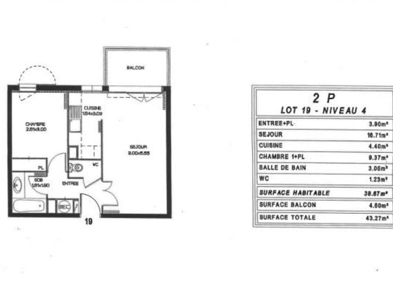 Vente appartement Strasbourg 92000€ - Photo 2