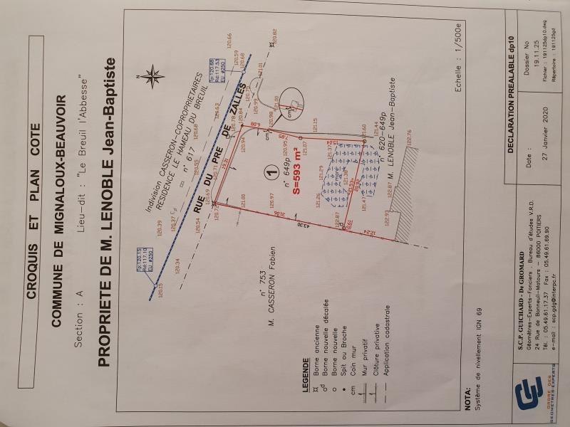 Vente terrain Mignaloux beauvoir 59000€ - Photo 1