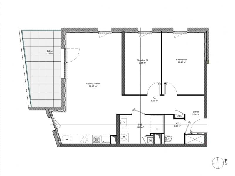 Sale apartment Behlenheim 238000€ - Picture 2