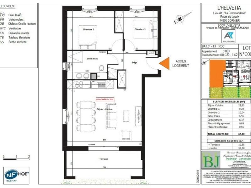 Venta  apartamento Cornier 282000€ - Fotografía 3