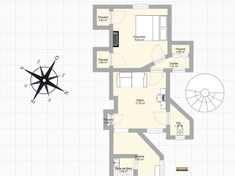 Locação apartamento Levallois perret 1330€ CC - Fotografia 11