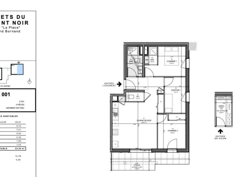 Sale apartment Le grand-bornand 465000€ - Picture 3