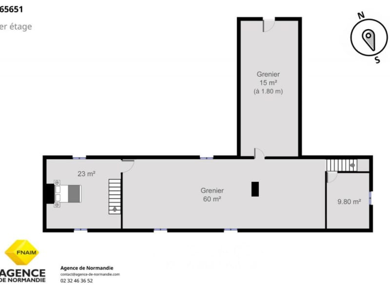 Sale house / villa La ferté-frênel 59000€ - Picture 7