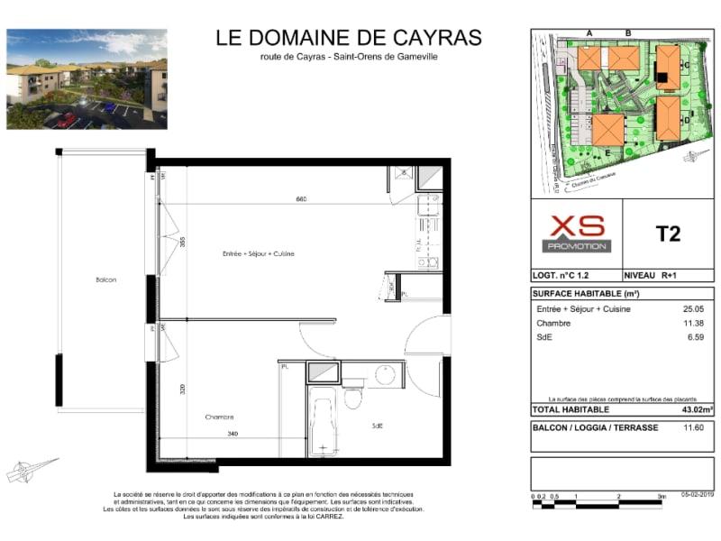 Rental apartment Saint orens de gameville 530€ CC - Picture 1