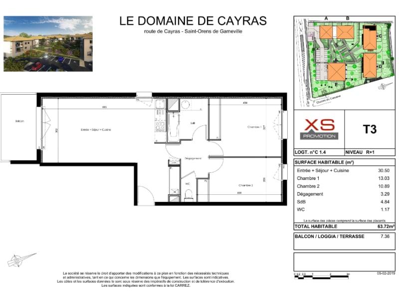 Rental apartment Saint orens de gameville 650€ CC - Picture 1