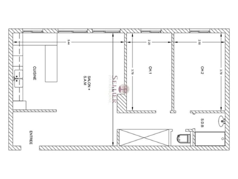 Venta  apartamento Paris 13ème 566400€ - Fotografía 12