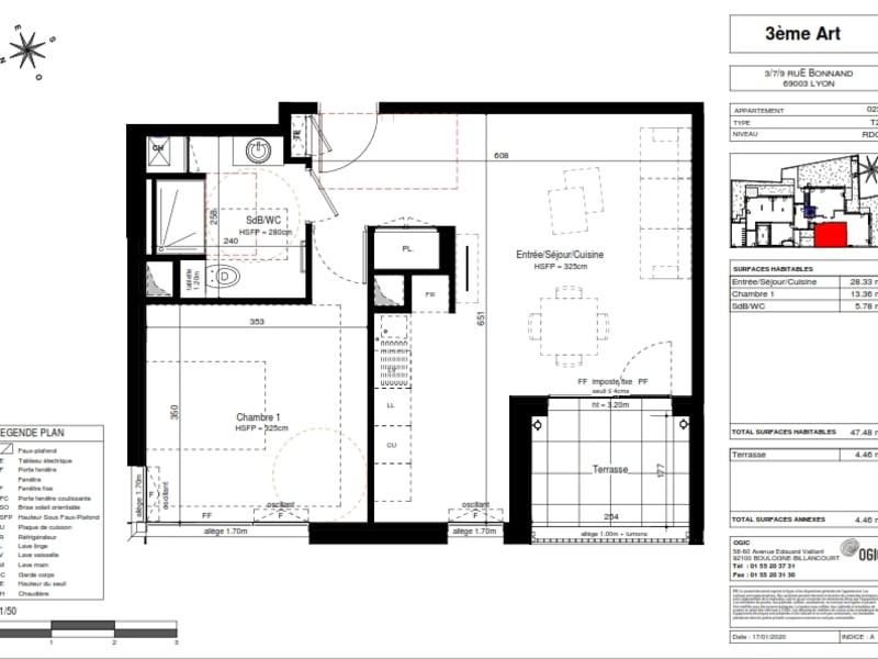 Vente appartement Lyon 3ème 342500€ - Photo 2