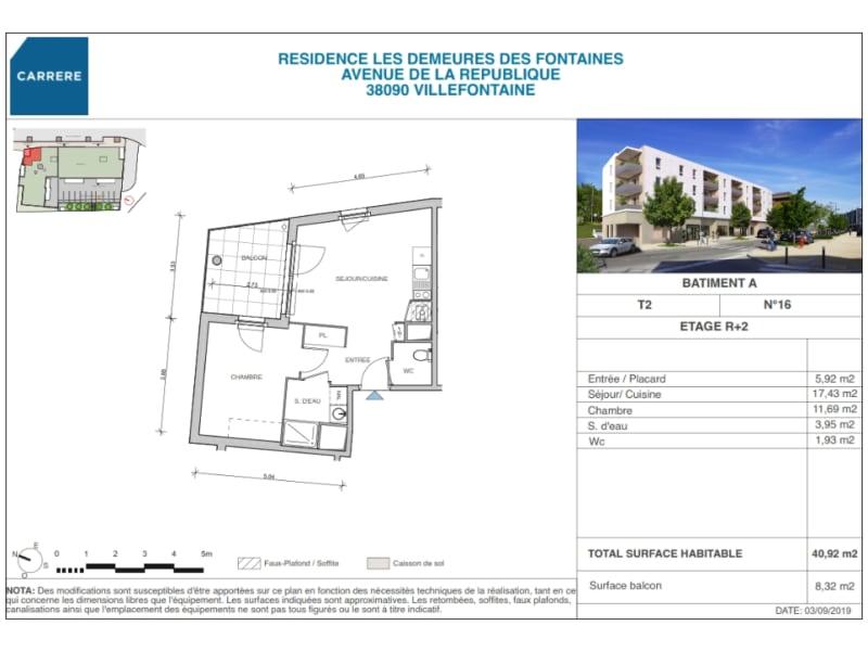 Sale apartment Villefontaine 178400€ - Picture 2