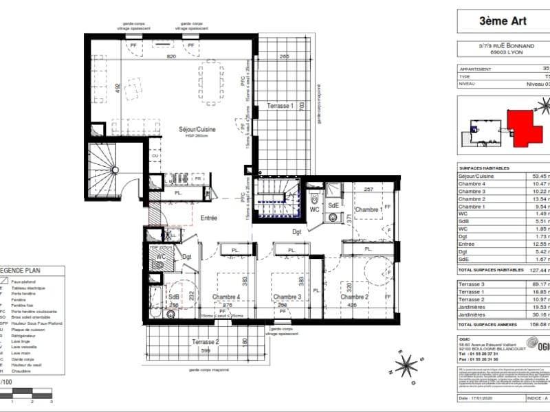Vente appartement Lyon 3ème 1046000€ - Photo 2