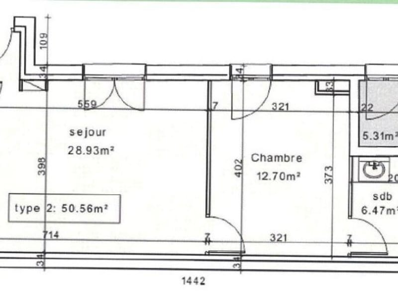 Sale apartment Chantilly 269000€ - Picture 2