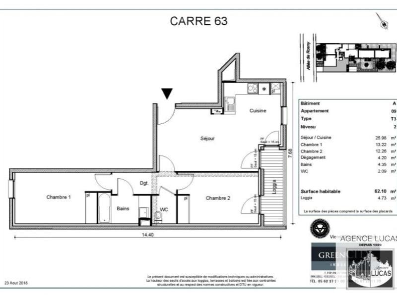 Rental apartment Livry gargan 940€ CC - Picture 2