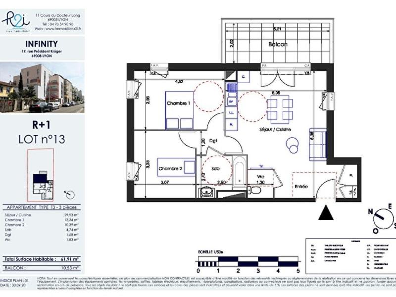 Vente appartement Lyon 8ème 365000€ - Photo 2