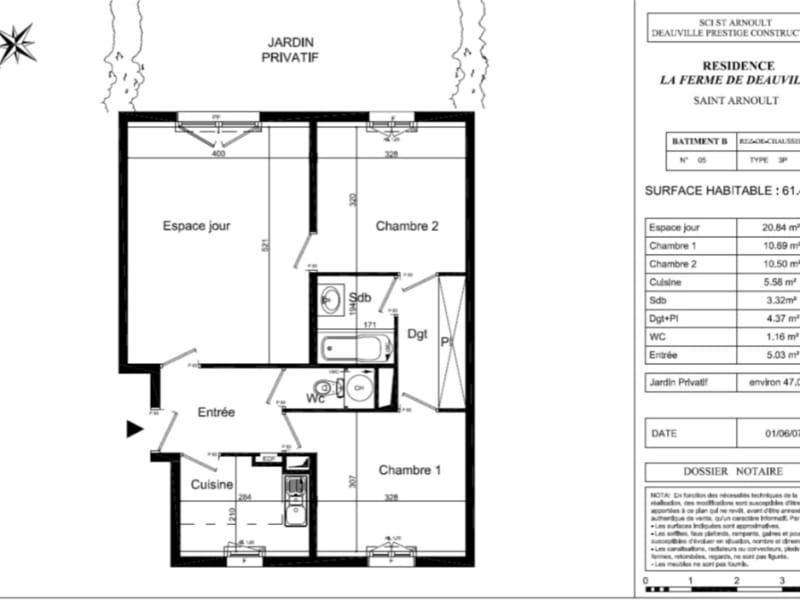 Vente appartement Deauville 384500€ - Photo 1