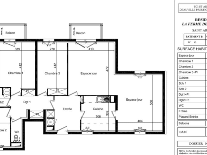 Vente appartement Deauville 563400€ - Photo 1
