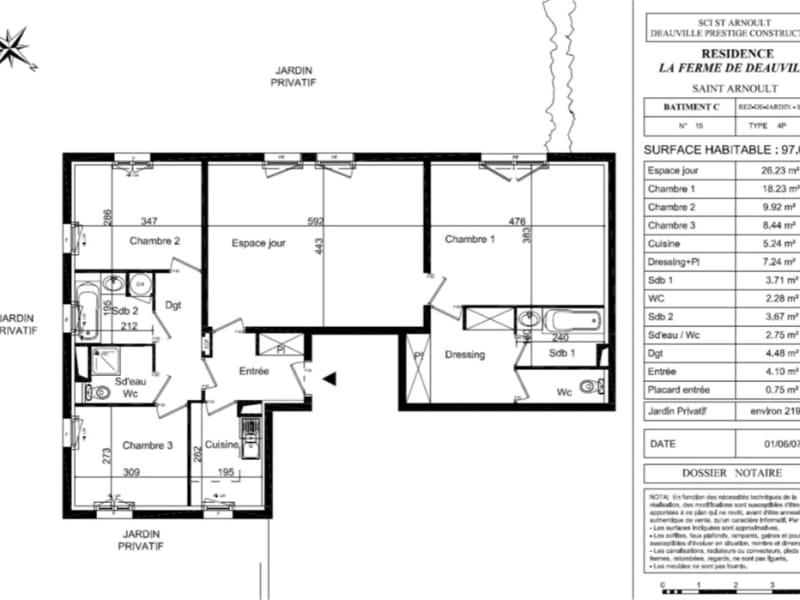 Vente appartement Deauville 669500€ - Photo 1