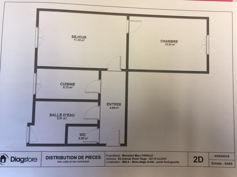APPARTEMENT CLICHY - 2 pièce(s) - 37.8 m2