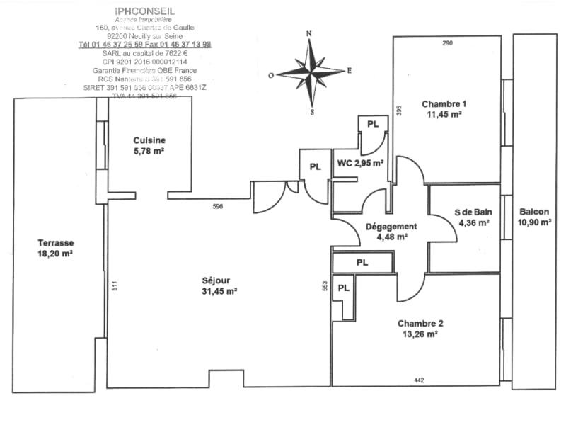 Sale apartment Neuilly sur seine 1190000€ - Picture 11