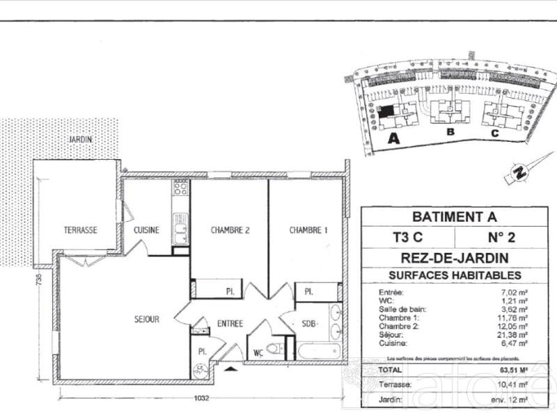 Sale apartment L isle d abeau 166000€ - Picture 1