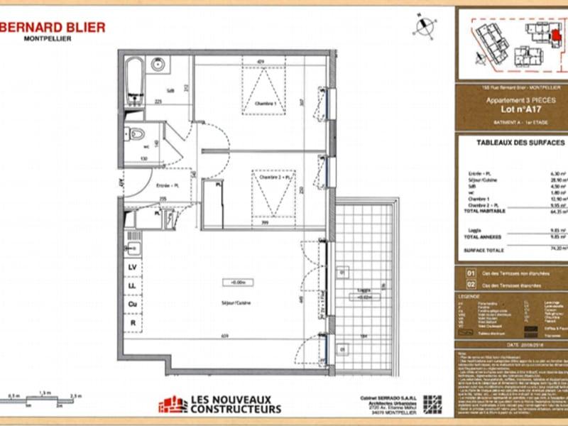 Rental apartment Montpellier 850€ CC - Picture 2