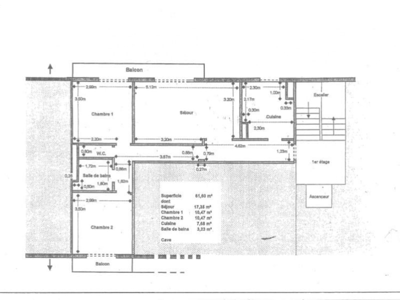 Vente appartement Viroflay 297000€ - Photo 3