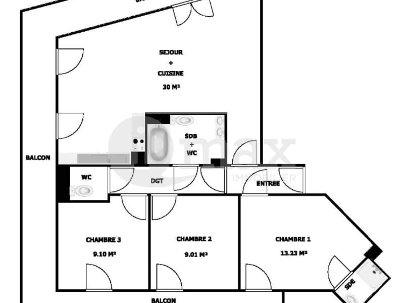 Vente appartement Clichy 689000€ - Photo 6