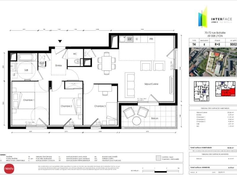 Sale apartment Lyon 8ème 439000€ - Picture 3