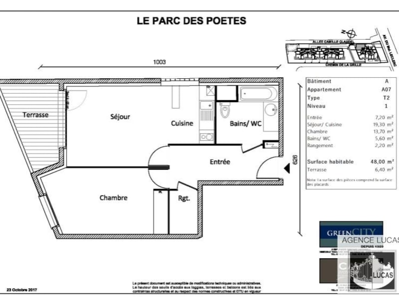Location appartement Neuilly sur marne 785€ CC - Photo 2
