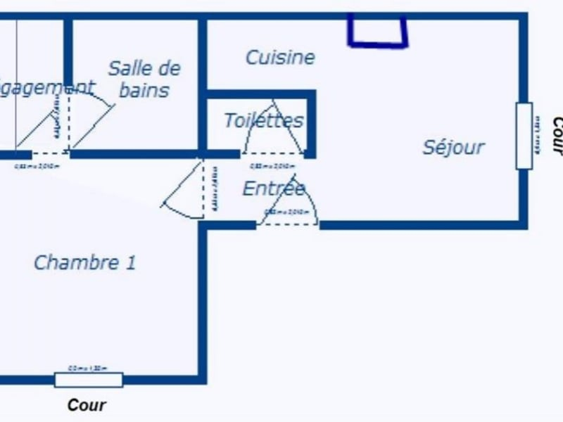 Vente appartement Bordeaux 240000€ - Photo 7