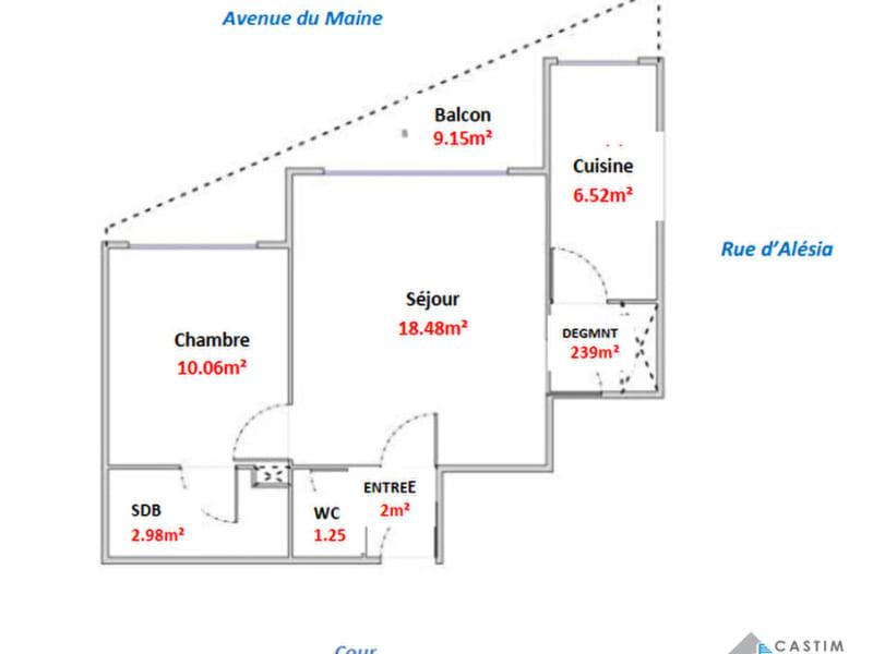 Sale apartment Paris 14ème 483000€ - Picture 14