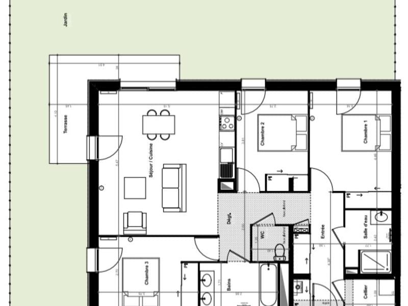 Sale apartment Pessac 408000€ - Picture 3