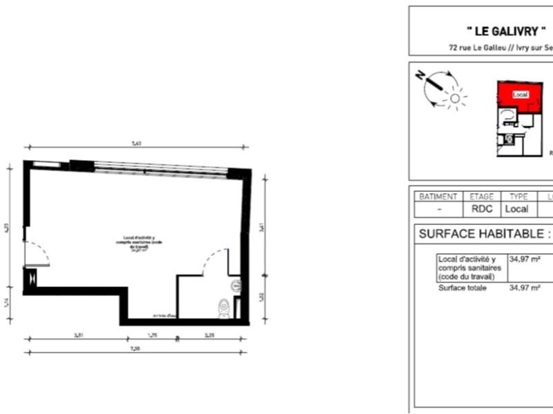 Sale empty room/storage Ivry sur seine 218400€ - Picture 2