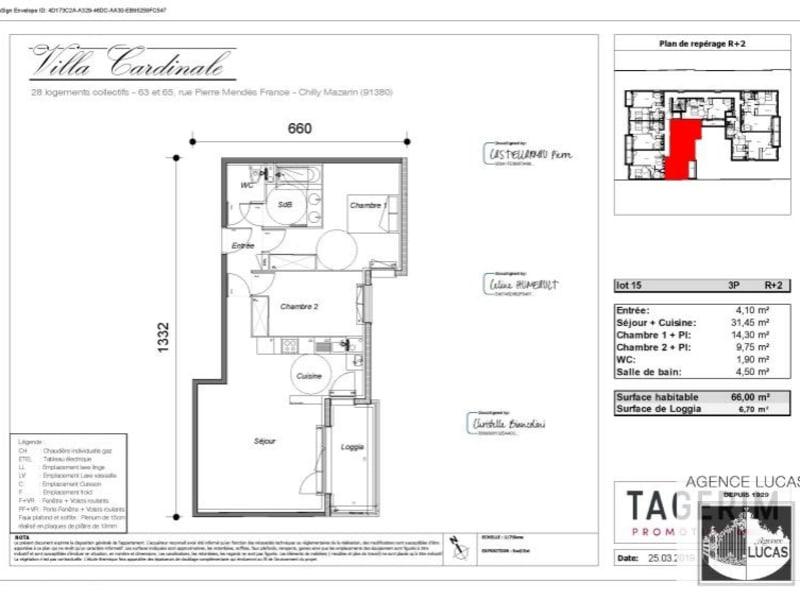 Location appartement Chilly mazarin 990€ CC - Photo 1