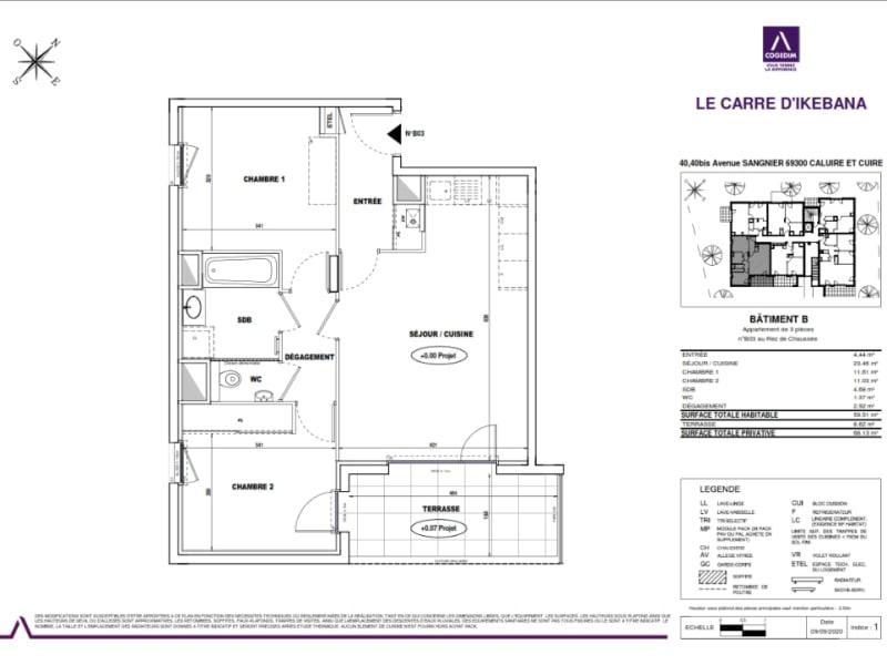 Sale apartment Caluire et cuire 361000€ - Picture 3