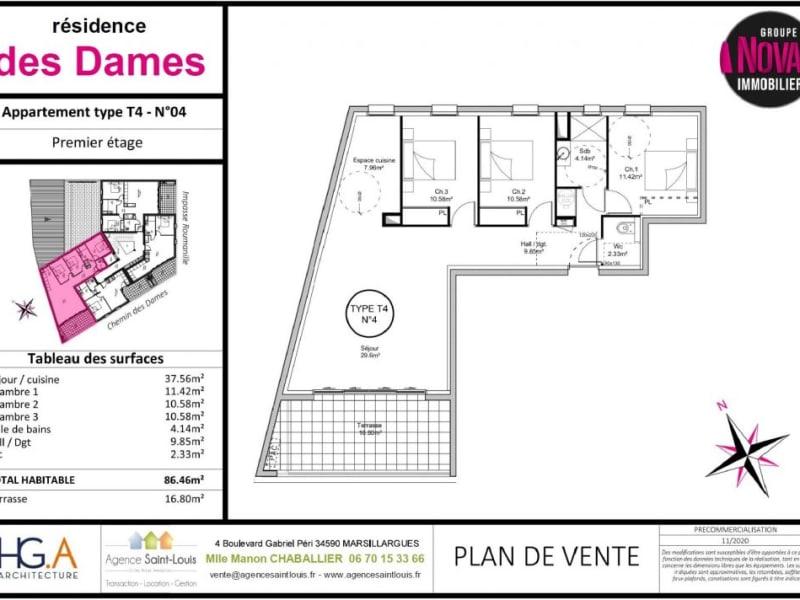 Venta  apartamento Marsillargues 254000€ - Fotografía 3